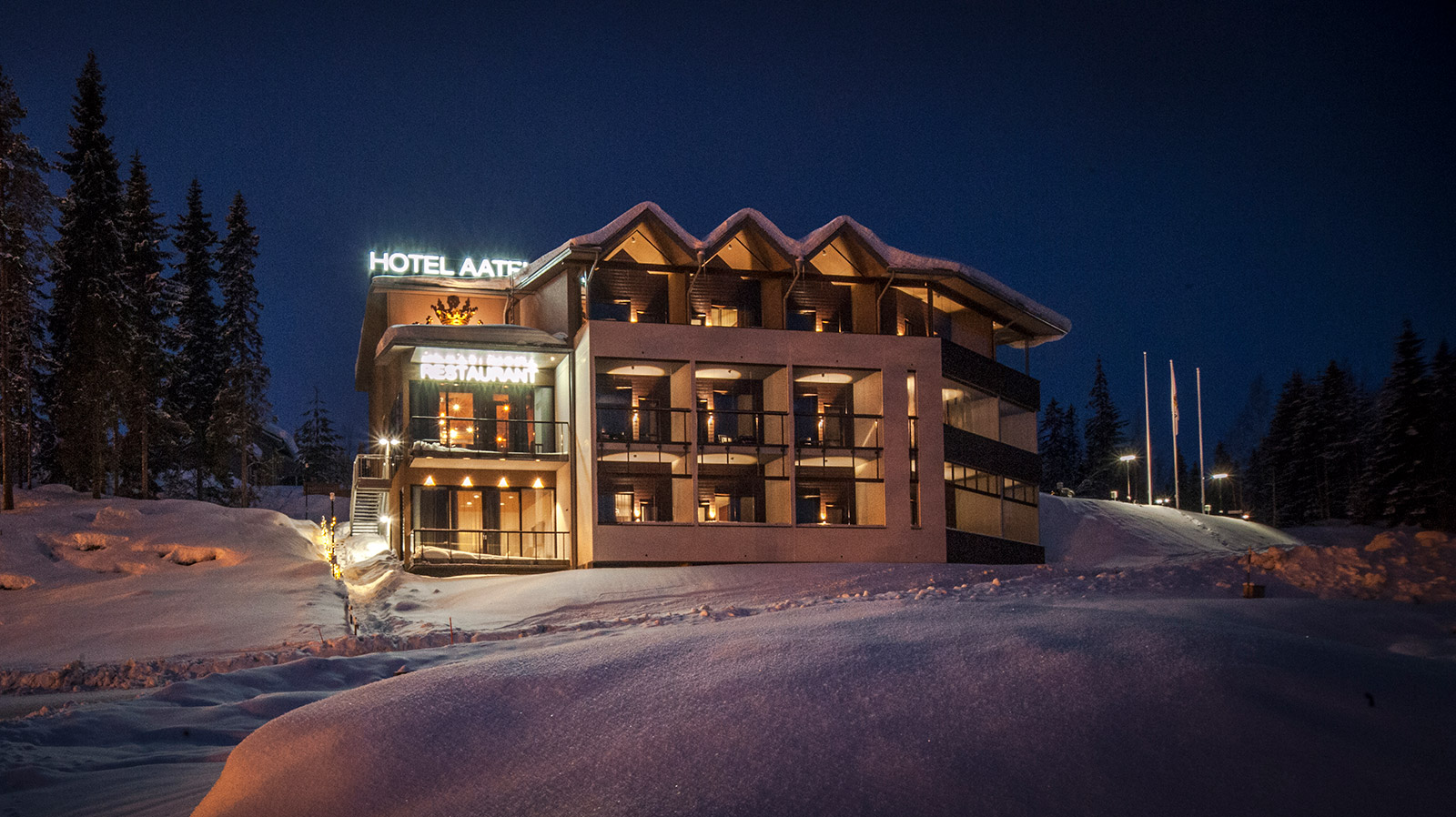 Vuokatti´s most spectacular slope-side hotel
